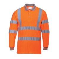 Polo HV manches longues orange PORTWEST